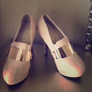 Pump platform stiletto heel